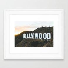 Hollywood Sign (Los Angeles, CA)  Framed Art Print