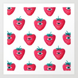 Cry Berry Pattern Art Print