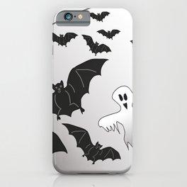 Ghosts and Bats Spiderweb Halloween iPhone Case