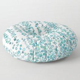 string of pearl watercolor Floor Pillow