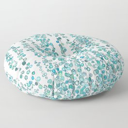 string of pearl watercolor Floor Pillow