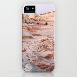 White Pocket Purple Hour iPhone Case