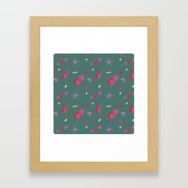 Insects are coming to town / Pink + Gold / Framed Art Print