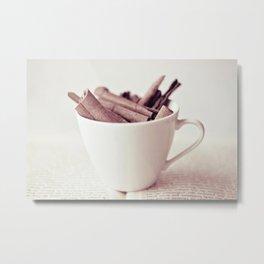 Cinnamon Cup Metal Print