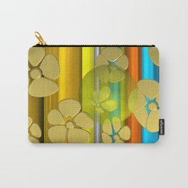 YELLOW FLOWER IN POMP Carry-All Pouch