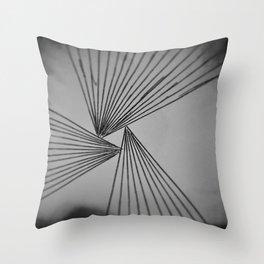 Gray Explicit Focused Love Throw Pillow