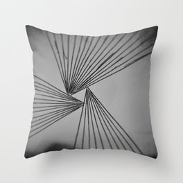 Gray Explicit Focused Love Throw Pillow