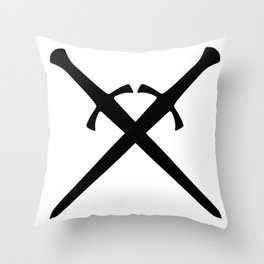 Crossed Daggers Throw Pillow