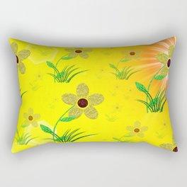 flower,abstract pattern in metal Rectangular Pillow