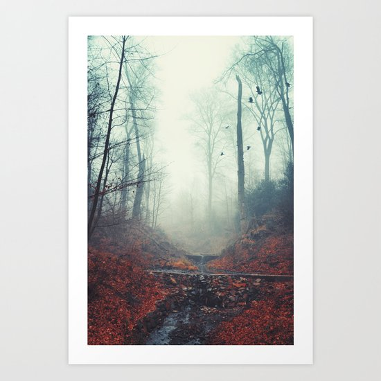 Misty March Morning Art Print