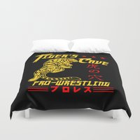 wrestling Duvet Covers featuring Tiger's Cave pro-wrestling by Buby87