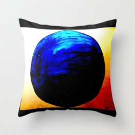 blue. blue. this world is blue. Throw Pillow