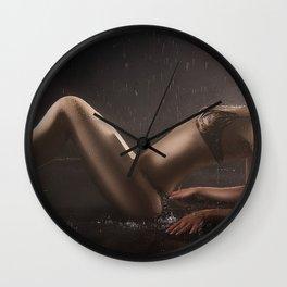 SEXY wet babe | HD DEsign Wall Clock