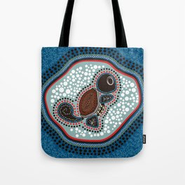 Aboriginal Water Turtle Tote Bag