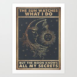 Poster The Sun Watches What I Do Art Print