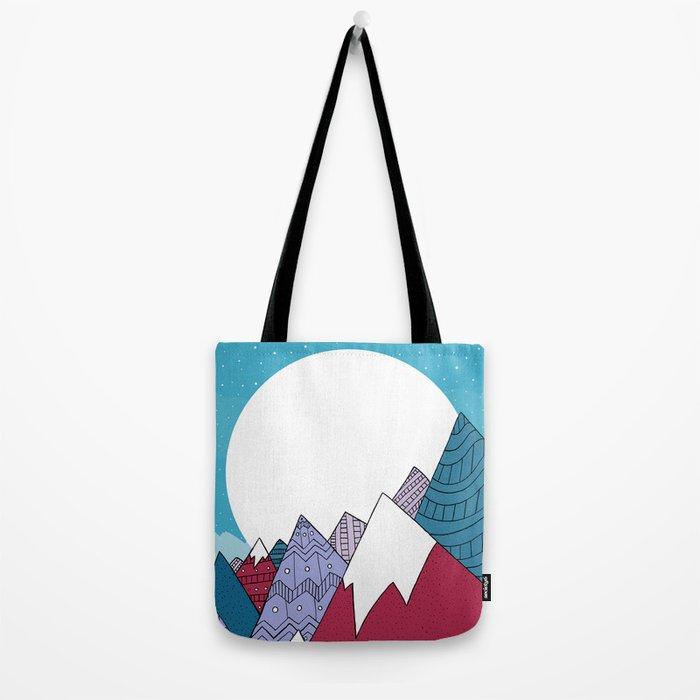 Blue Sky Mountains Tote Bag