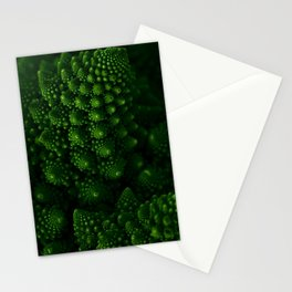 Macro Romanesco Broccoli - Low Key Stationery Cards