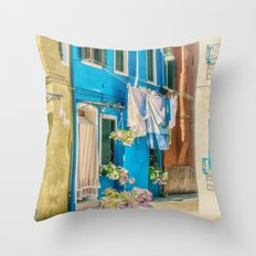 Burano, Italy  Throw Pillow
