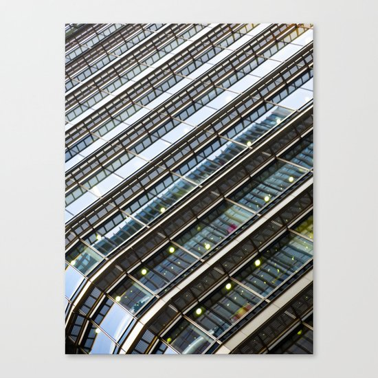 Canary Wharf  Abstract Canvas Print