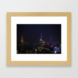 NYC Iconic Night Sky Framed Art Print
