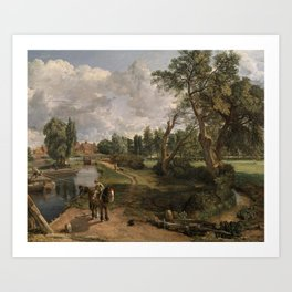 John Constable 1776–1837   Flatford Mill ('Scene on a Navigable River') Art Print