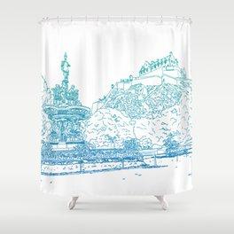 Princes Street Gardens Shower Curtain