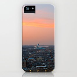 Montreal Twilight iPhone Case