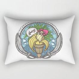 Banana Pirate! (White Bg) Rectangular Pillow