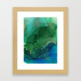 Ocean gold Framed Art Print