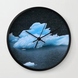 Blue Icebergs Of Alaska Glacier Wall Clock