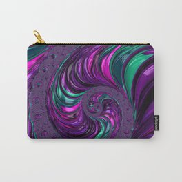 Jewel Tone Fractal Spiral Carry-All Pouch