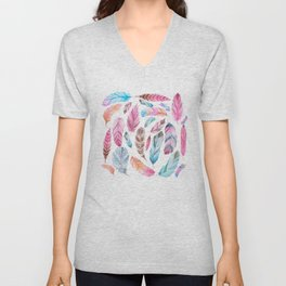 Watercolor coton Unisex V-Neck