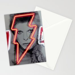 bowie neon 4 Stationery Cards