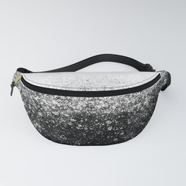 fading paint drops - black and white - spray painted color splash Fanny Pack