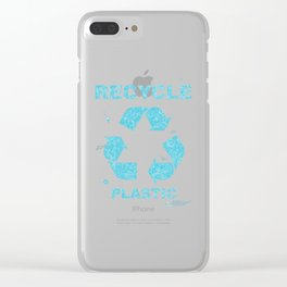 Recycle Plastic Clear iPhone Case