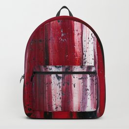 Abstract artwork #29 - Red Ocean waves - Red Sea waves - Red waves - Red Abstract Painting Backpack