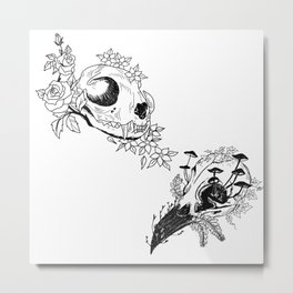 Fauna and Flora - B&W Metal Print