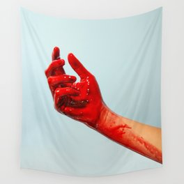 Bloody Hand Wall Tapestry