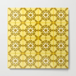 Yellow azulejos Metal Print