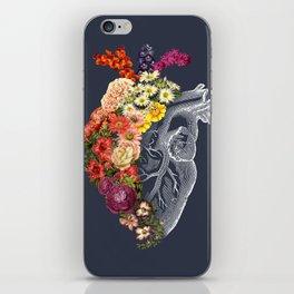 Flower Heart Spring Blue Grey iPhone Skin