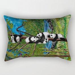 Six Baby Pandas in a Tree Rectangular Pillow