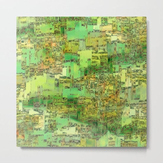 Green City on a Hill Metal Print
