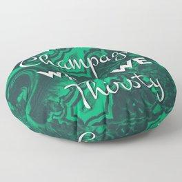 Sip Champagne Malachite Floor Pillow