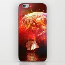 Segelboot im Universum iPhone Skin