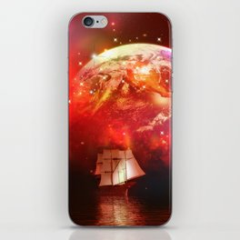 Segelboot im Universum iPhone Skin