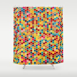 Happy bee! Shower Curtain
