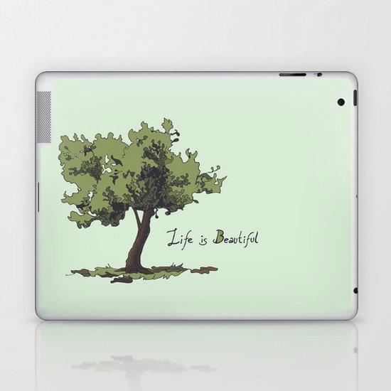 Life is Beautiful Olive Tree Laptop & iPad Skin