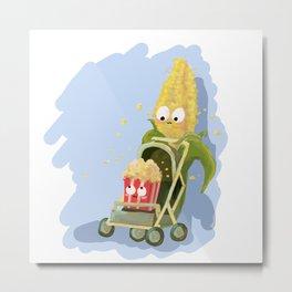 Crispy Gangs- Baby corn is Popping Metal Print