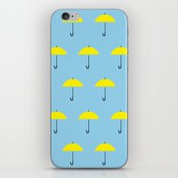 himym iPhone & iPod Skins featuring HIMYM Yellow Umbrella by tralalavelling