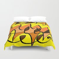 charlie brown Duvet Covers featuring CHARLIE BROWN by ....